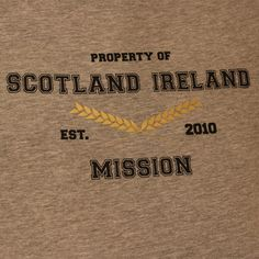 """A Personalised Missionary T-Shirt would make the perfect gift for your Son or Daughter. Let them wear this Personalised Missionary T-Shirt with pride, because their mission is the best in the world, right?   These Personalised Missionary T-Shirts come with a gold wheat sheaf design in the middle as the symbol for the Doctrine and Covenants scripture 4:4 """"For behold the field is white already to harvest""""."""