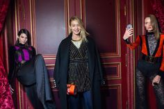 Kendall Jenner, Gigi Hadid and Daria Strokous, backstage at Balmain F/W 2015-16