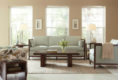 Brightening the mood with Stickley Modern furniture.