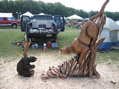 Chainsaw carving by Jeff Pinney