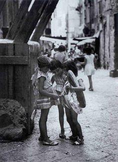 Mario Cattaneo: Napoli, Vicoli, anni '50