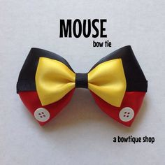 mouse clip on bow tie por abowtiqueshop en Etsy