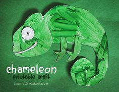 Printable Chameleon Craft from http://learncreatelove.com