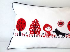Red Riding Hood cushion from Retro Kids