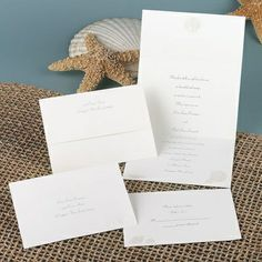 Shimmering Shells - Seal and Send Invitation