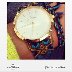 """Thanks for sharing your Maya watch! And by the way, you've got such a """"heavenly"""" last name, Tania! Click to see more! #ToyWatch #watch #watches #style #fashion #accessories #forher #TWlove #Maya #woven"""