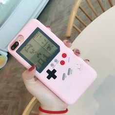 Pink Gameboy iPhone Case - 10 games included! – NotebookTherapy Iphone 7 Plus, Iphone 8, Iphone Hacks, Pink Iphone, Iphone Watch, Game Boy, Gameboy Games, Nintendo Games, Gameboy Iphone