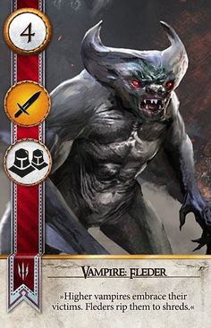 Vampire: Fleder (Gwent Card) - The Witcher 3: Wild Hunt