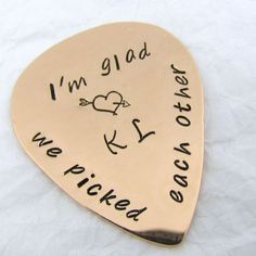 Personalized Guitar Pick | 7th Anniversary Gifts For Couples, Him, Her