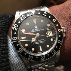 Vintage GMT 16750 #Rolex @thewatchobserver #thewatchobserver #beautiful #vintagerolex #picoftheday #watchesofinstagram #watchporn #wristshot #16750 #quickset