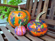 Fingerprint Pumpkins: Fun & Easy, No-Carve Halloween Pumpkin Ideas for Special Kids | Parenting Special Needs Magazine