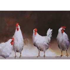 Schilderij Kippen - De webshop voor trendy wonen!