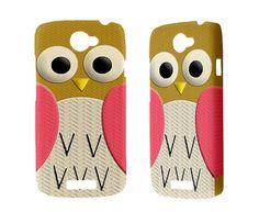 New Htc One X Case Cute Retro Owl Htc One S V Vivid by sevenheven, $17.00