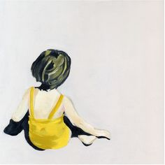"Girl In The Yellow Suit Print By Lisa Golightly - reminds me of that Andrew Wyeth painting ""Christina's World"" Illustration Photo, Illustrations, Yellow Suit, Mellow Yellow, Color Yellow, Yellow Black, Figure Painting, Painting & Drawing, Kunst Online"