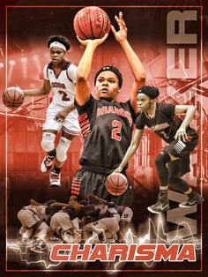 Basketball sports poster custom designed by Anything Photos