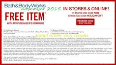 Printable Coupons: Bath And Body Works Coupons