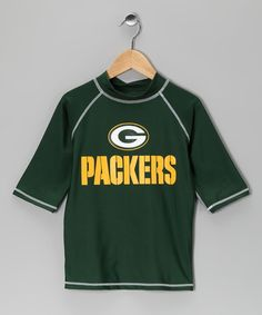 Take a look at this Green Bay Packers Rashguard - Kids by NFL on #zulily today!