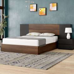 Porrima Platform 4 Piece Bedroom Set – My Style Wood Bed Design, Bedroom Bed Design, Bedroom Furniture Design, Bed Furniture, Bedroom Decor, Bedroom Ideas, Furniture Ideas, Furniture Layout, Furniture Stores