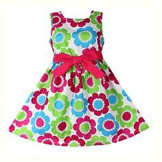 Girl's Fashion Floral Belt 100% Cotton Party Pageant Casual Princess Dresses – BRL R$ 51,27