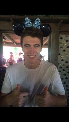 Brayden (TheCampingRusher) happy at Disneyland :D