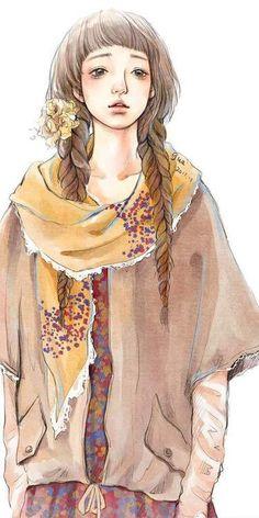 Mori Girl and Illustration