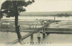 "Waterworks at Rungna Islet, c1910 일제강점기 사진엽서 – ""No. 126, Kiurashima at Heijio 朝鮮平壤陵羅島水源地"""