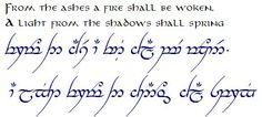 from the ashes a fire shall be woken elvish - Recherche Google