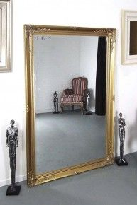 Extra Large Ornate Styled Gold Rectangle Wall Mounted Wood Mirror 170cm X  109cm 189.99