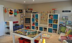 playroom storage!