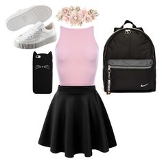 """""""idk?"""" by kingoliversykes on Polyvore featuring mode, Puma, NIKE en Accessorize"""