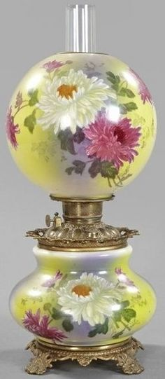 Oil Lamp Converted to Electric