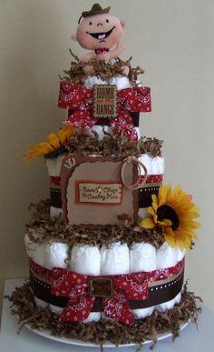 Cowboy Diaper Cake                                                                                                                                                                                 Más