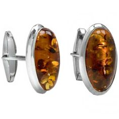 Men's Sterling Silver Honey Amber Designer Oval Cuff Links Amazon Curated Collection. $66.00. May be washed with warm water and soap.. Gemstones may have been treated to improve their appearance or durability and may require special care