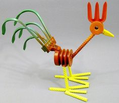 Folk Art Yard Art Metal Art Rooster by OurUniquePerspective