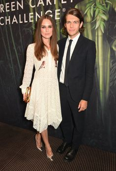 Don't Miss a Single Celebrity at London Fashion Week Day 3 Keira Knightley and James Righton at the Green Carpet Challenge 2016 BAFTA Night.
