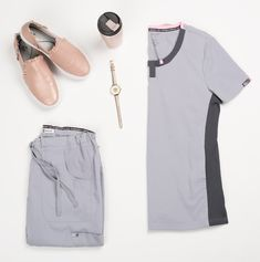 2f253ed3e37 Koi Lite Lotus Contrast Knit Round Neck Snap Detail Scrub Top | Scrubs &  Beyond