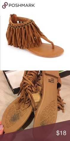 Fringe Sandals never worn.. comes with box Not Rated Shoes Sandals
