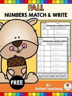 FREE activity to reinforce number sense. Write the numeral, match the ten frame, and write the number word!
