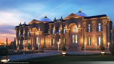 So beautiful photography of the Mohatta palace Karachi Sindh Pakistan Classic House Exterior, House Outside Design, Mansion Designs, Night Shot, Interior Architecture, Interior Design, Pakistan, Palace, 3ds Max