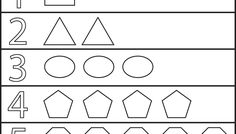 Shapes and Numbers - 1 Worksheet