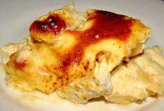 ¿Has probado alguna vez bechamel de frutas? Con esta receta tienes la oportunidad: Gratén de patatas y bacalao con bechamel de naranja