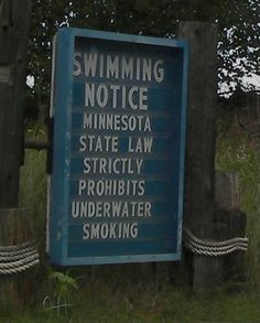 No smoking underwater. huh?