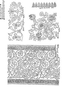 tudor embroidery pattern