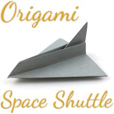 Simple Origami Space Shuttle Tutorial (Hyo Ahn) Origami u. Easy Origami For Kids, How To Make Origami, Origami Easy, Bunny Origami, Origami Flowers, Origami Printables, Summer Camp Crafts, Easy Paper Crafts, Makeup Eyes