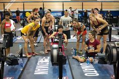 CrossFit Girls | 2013 crossfit games athletes cheering each other on during row 2 love ...