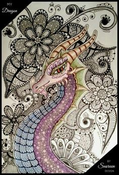 #doodle #doodling #doodlings #art #dragon #snoravndesign