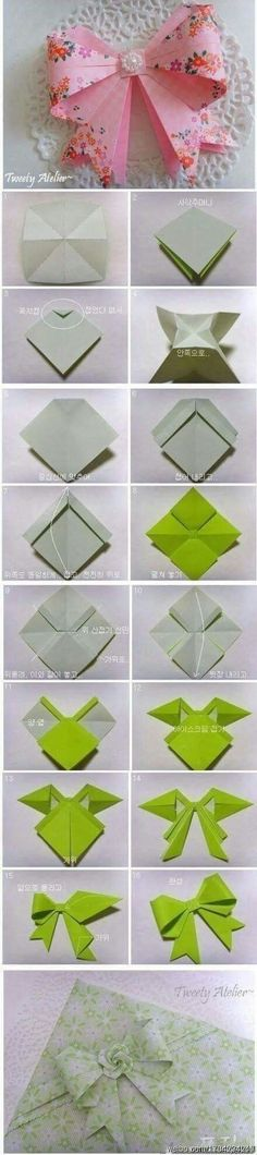 Origami Bow Origami Creation Pinterest Origami Craft And Oragami