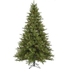 Vickerman 7.5Ft. Green 1402 Tips Christmas Tree 700 Clear Dura-Lit