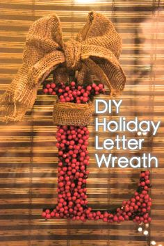 Project Pinterest: DIY Holiday Letter Wreath — JaMonkey - Parenting & Lifestyle | Atlanta Mom Blogger