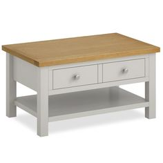 chunky solid pine coffee table : £165, painted in annie sloan